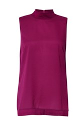 French Connection Polly Plains Sleeveless Top Pink