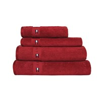 Tommy Hilfiger Plain Red Range Towel Bath Sheet