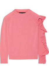 Paper London Montana Ruffled Merino Wool Sweater Pink