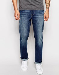Asos Relaxed Jeans In Mid Blue Mid Blue