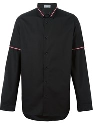 Christian Dior Homme Striped Collar Shirt Black