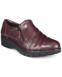 Easy Spirit Oakhill Flats Women's Shoes Wine Leather