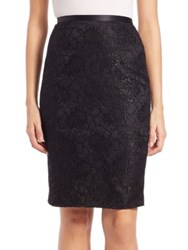 Theia Lace Pencil Skirt