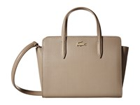 Lacoste Chantaco Medium Shopping Bag Timber Wolf Tote Handbags Beige