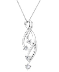 Trumiracle Diamond Vine Pendant Necklace In Sterling Silver 1 10 Ct. T.W.