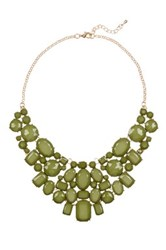 Eye Candy Los Angeles June Statement Bib Necklace Green