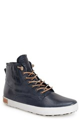 Men's Blackstone 'Im 10' Leather High Top Sneaker Petrol Blue Leather