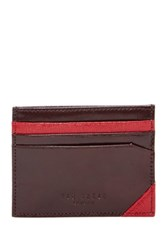 Ted Baker Genuine Leather Belsfed Wallet Brown