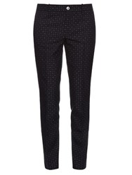 Gucci Dot Jacquard Skinny Fit Trousers Navy