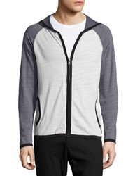 Howe Hooded Zip Front Jacket Uptown 055