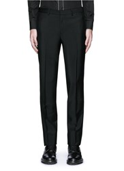 Givenchy Curb Chain Side Stripe Wool Mohair Pants Black