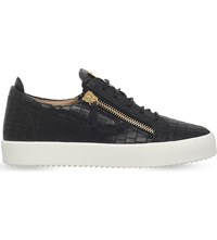 Giuseppe Zanotti Crocodile Low Top Leather Trainers Black
