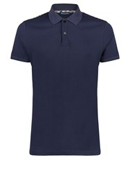 Aquascutum London Hill Club Check Polo Navy