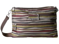 Baggallini Tablet Crossbody Java Stripe Cross Body Handbags Multi