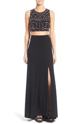 Women's Morgan And Co. Embellished Two Piece Gown