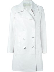 Drome Leather Coat White