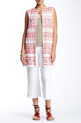 Jwla By Johnny Was Embroidered Linen Vest White