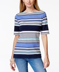 Charter Club Striped Pima Cotton Tee Only At Macy's