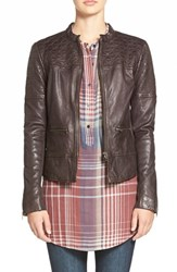 Women's Hinge Quilted Leather Jacket