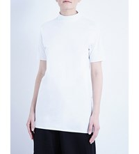 Y 3 Long Cotton Jersey T Shirt Crystal White