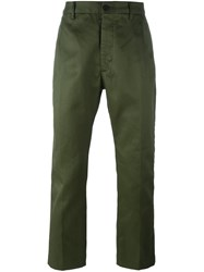 Pence Drop Crotch Straight Fit Chinos Green