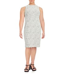 Calvin Klein Plus Textured Sheath Dress Soft White