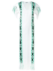 Sensi Studio Fringed Long Kaftan White