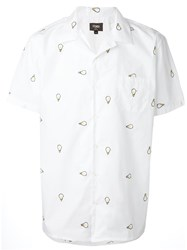Fendi Light Bulb Embroidered Shirt White