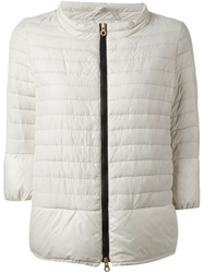 Duvetica Padded Zip Front Jacket Nude And Neutrals