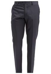 Tom Tailor Suit Trousers Knitted Navy Dark Blue