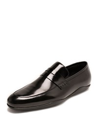 Harry's Of London Downing Italian Leather Penny Loafer Black Purple