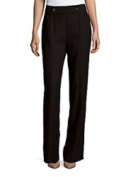 1.State Wide Legged Solid Pants Rich Black
