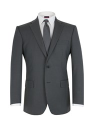 Pierre Cardin Stripe Notch Lapel Regular Fit Jacket Grey