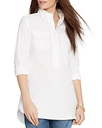 Lauren Ralph Lauren Half Button Down Tunic White