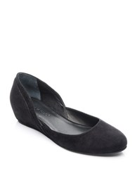 Bernardo Nakita Suede Hidden Wedge Flat Pumps Black