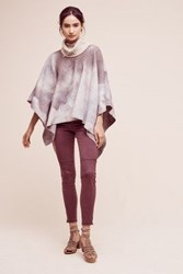 Anthropologie Shiloh Tie Dyed Wool Cape Pink