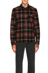 A.P.C. Trevor Shirt In Black Red Checkered And Plaid Black Red Checkered And Plaid
