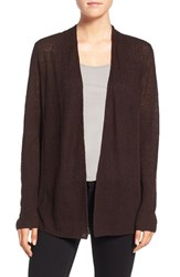 Eileen Fisher Women's Organic Linen Shaped Cardigan Clove