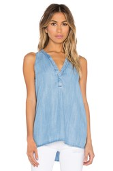 Soft Joie Carley B V Neck Tank Blue