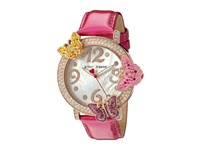 Betsey Johnson Bj00584 03 3D Crystal Butterfly Pink Rose Gold Watches
