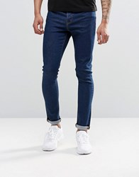 Asos Super Skinny Jeans In 12.05Oz True Blue True Blue