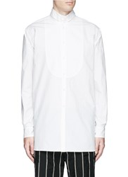 Uma Wang 'Martino' Bib Front Cotton Shirt White