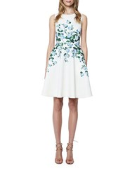 Erin Fetherston Suzie Rose Printed Fit And Flare Dress Ivory Multi