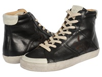 Frye Dylan High Black Washed Smooth Vintage Women's Lace Up Casual Shoes
