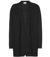Acne Studios Paulin Linen Open Cardigan Black