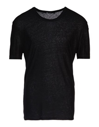 T By Alexander Wang Short Sleeve T Shirt Black