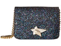 Charlotte Olympia Sinatra Night Sky Blue Glitter Wallet Handbags