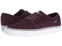 Vans Brigata Suede Iron Brown True White Skate Shoes