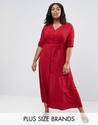 Alice And You Maxi Tea Dress With 3 4 Sleeves Burgundy Red