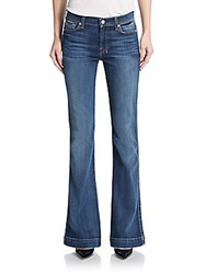 7 For All Mankind Slim Flared Trouser Jeans Blue